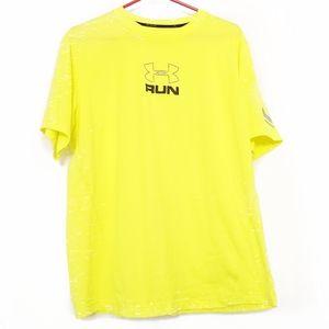 Underarmour heat gear t-shirt Run neon yellow XL